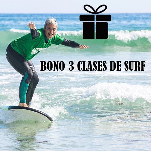 Bono regalo de 3 clases de surf en galicia