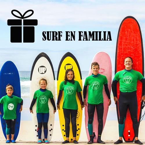 bono regalo surf en familia