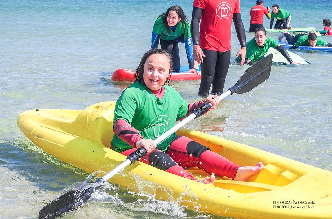 obra social con discapacitados surf en galicia