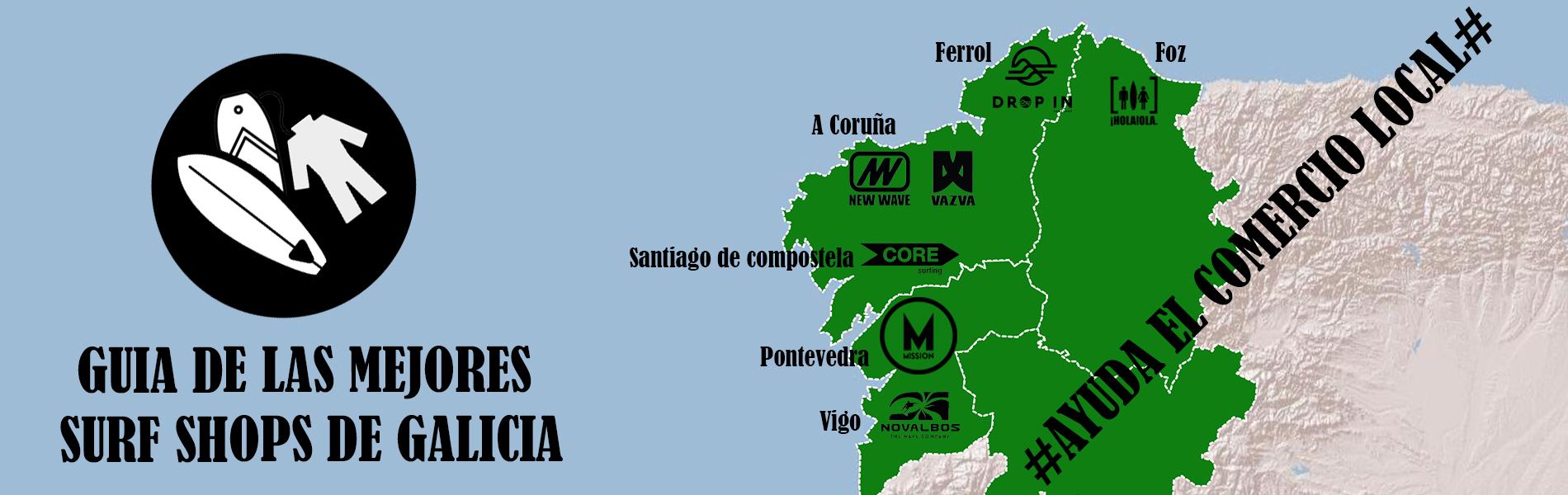 Guia tiendas de surf en galicia