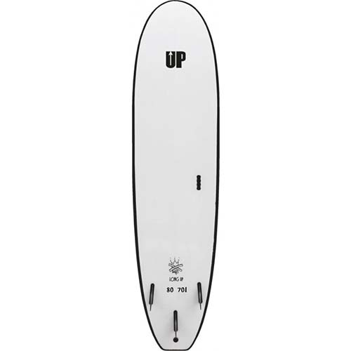 up surfboard long up back